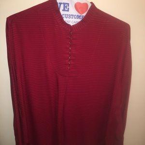 Mm LaFleur red blouse medium